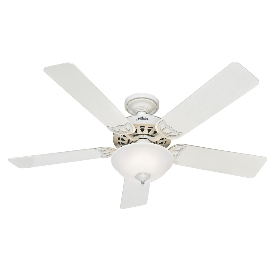 Hunter The Sonora 52-in French Vanilla Downrod or Close Mount Indoor Ceiling Fan with Light Kit ENERGY STAR