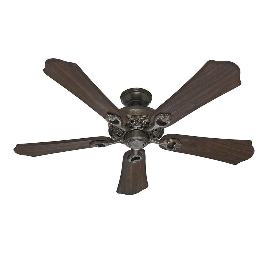 Hunter Kingsbury 52-in Roman Bronze Downrod or Close Mount Indoor Ceiling Fan