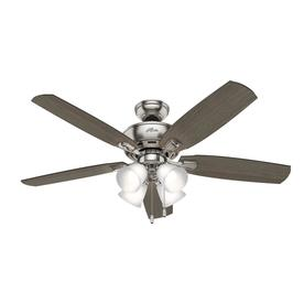 Hunter Amberlin LED 52 In Brushed Nickel Indoor Ceiling Fan With Light Kit