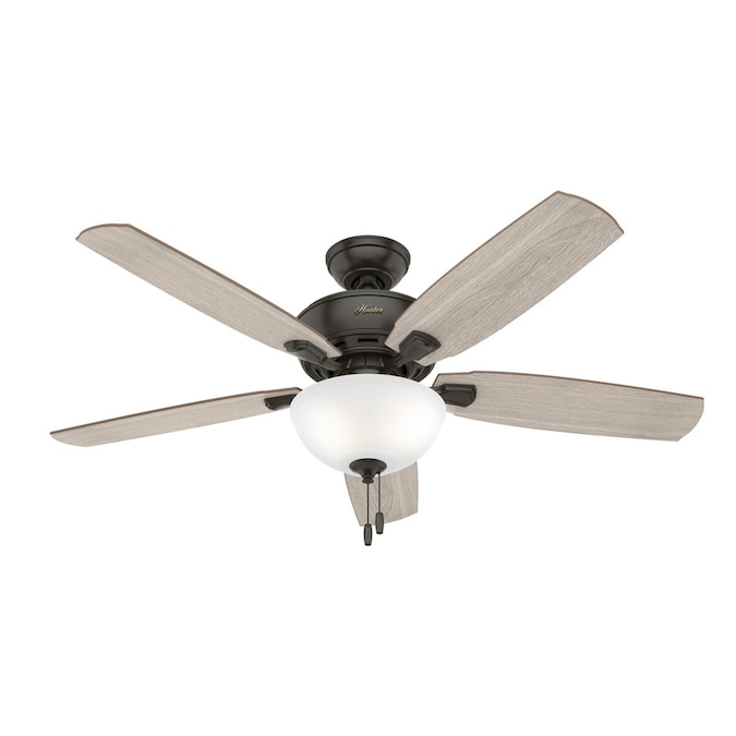 Hunter Creekside Led 52 In Satin Bronze Led Indoor Ceiling Fan 5 Blade In The Ceiling Fans Department At Lowes Com