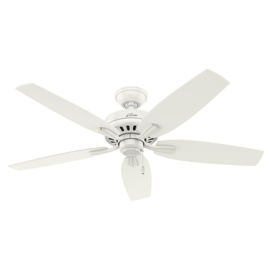 Hunter Newsome 52-in Fresh White Downrod or Close Mount Indoor Ceiling Fan