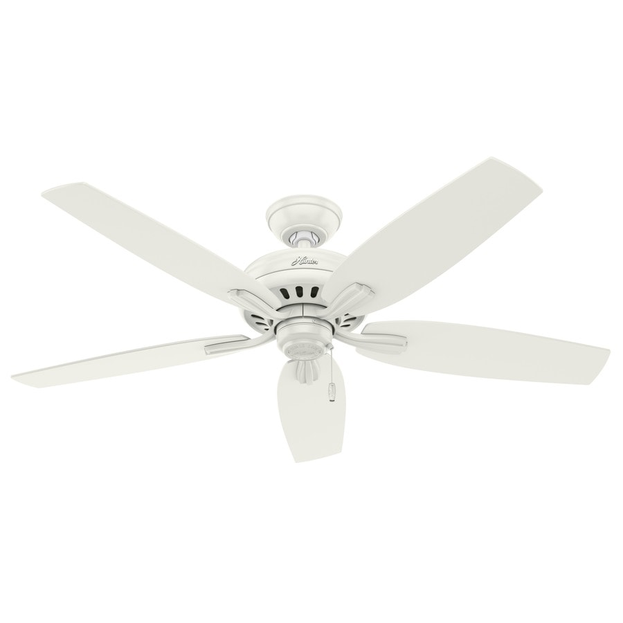 Hunter Newsome 52-in Fresh White Downrod or Close Mount Indoor/Outdoor Ceiling Fan