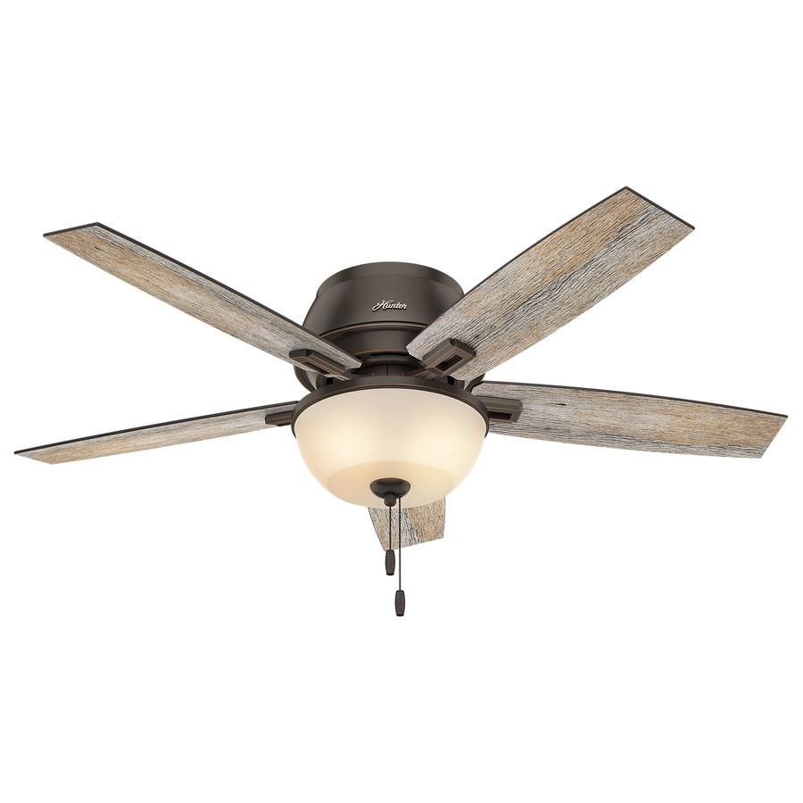 Ceiling Fans Mount: Hunter Donegan 52-in LED Indoor Flush Mount Ceiling Fan