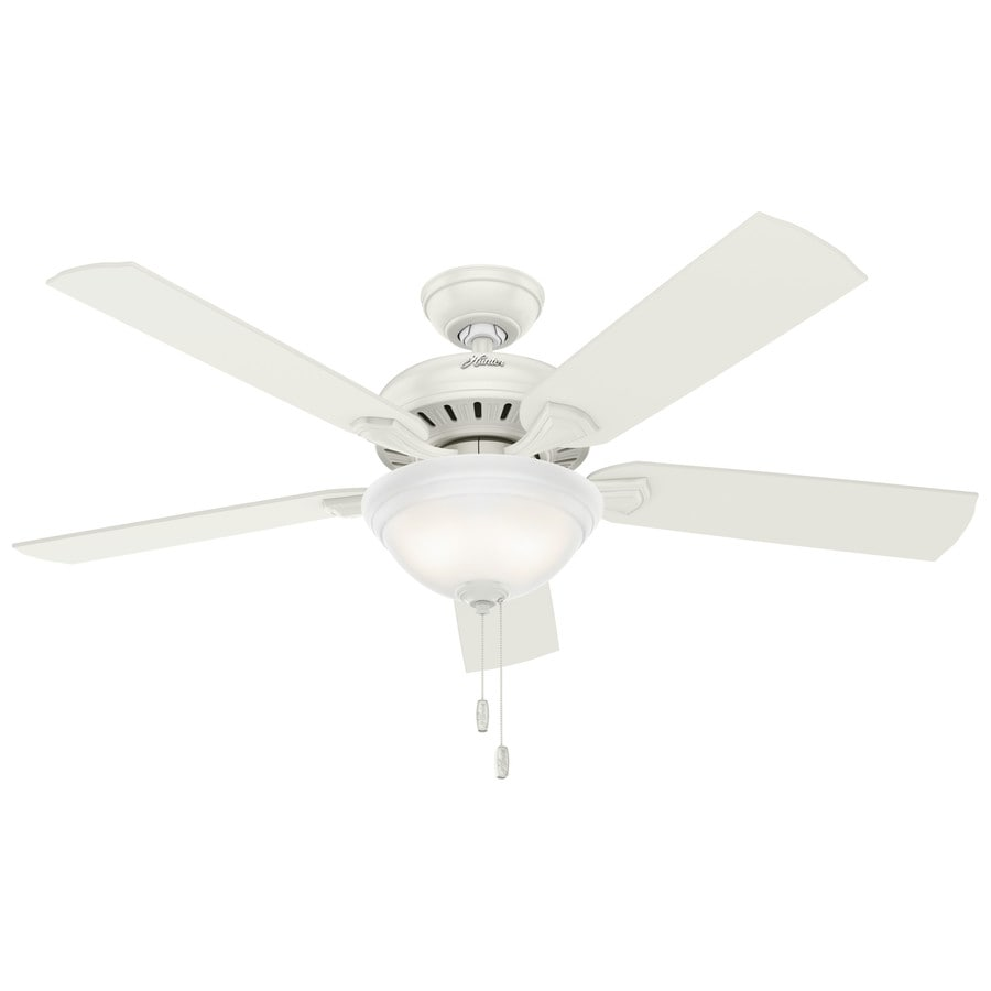 Shop hunter fletcher 52 in fresh white downrod or close Ceiling fans no light