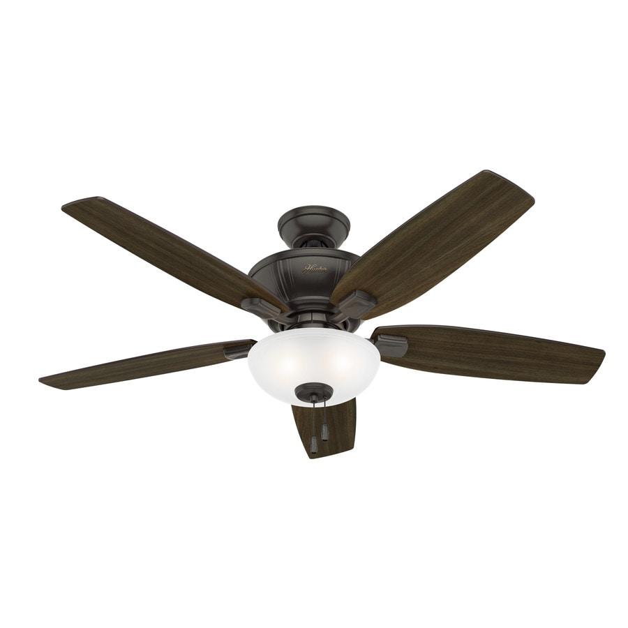 Hunter 1-Pack Kenbridge 52-in ble Bronze Downrod or close mount Indoor Ceiling Fan with Light Kit