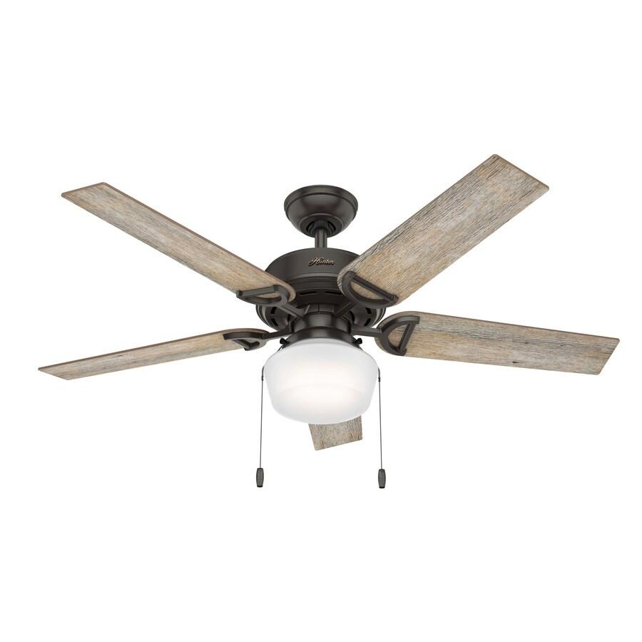 Hunter Viola Led 52 In Noble Bronze Led Indoor Ceiling Fan