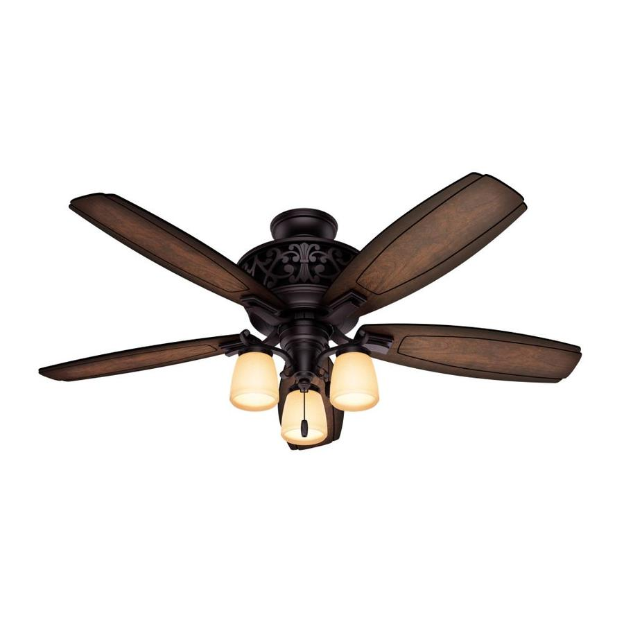 Hunter Ceiling Fans With Lights : Shop hunter willowcrest in brittany bronze indoor