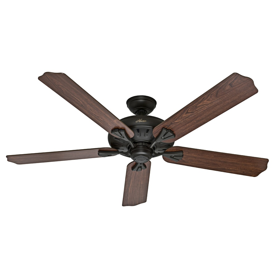 Oak Ceiling Fans With Lights : Shop hunter the royal oak in new bronze indoor downrod