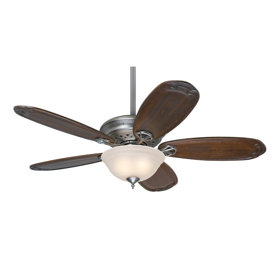 Hunter Teague 54-in Antique Pewter Downrod or Close Mount Indoor Ceiling Fan with Light Kit