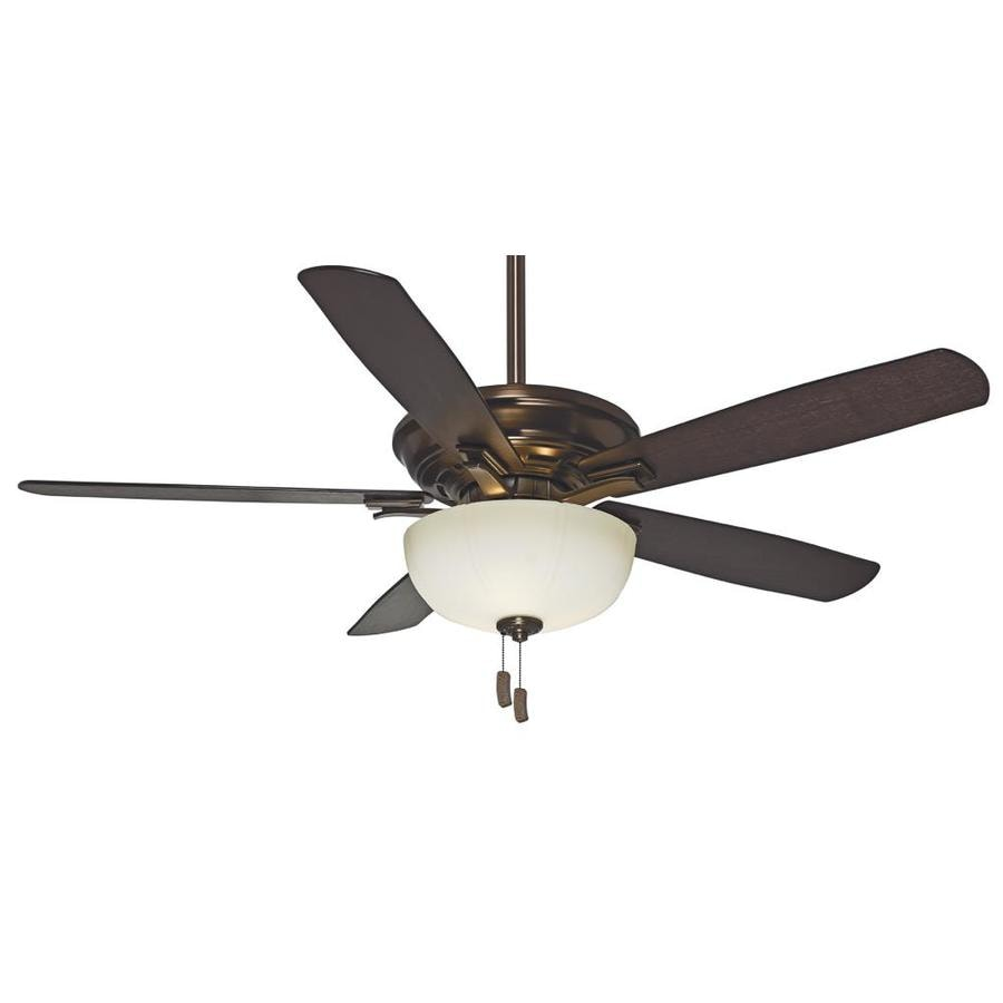 Casablanca 54-in Bronze Patina Downrod or Close Mount Indoor Ceiling Fan with Light Kit