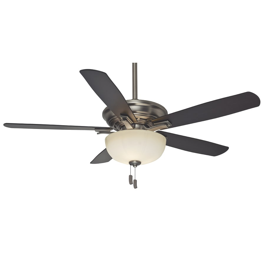 Casablanca Academy Gallery 54-in Antique Pewter Downrod or Close Mount Indoor Residential Ceiling Fan with Light Kit