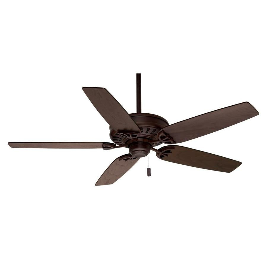 Hunter Bayview 54-in White Downrod or Close Mount Indoor/Outdoor Ceiling Fan ENERGY STAR