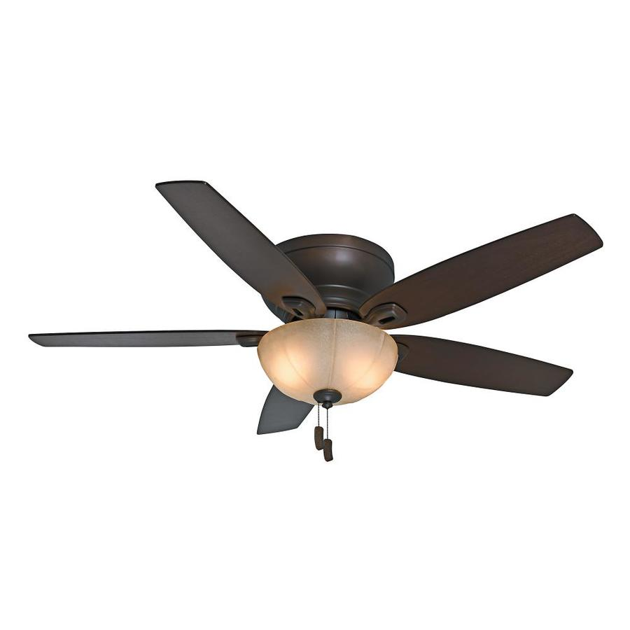Casablanca Durant 54-in Maiden Bronze Indoor Flush Mount Ceiling Fan with Light Kit