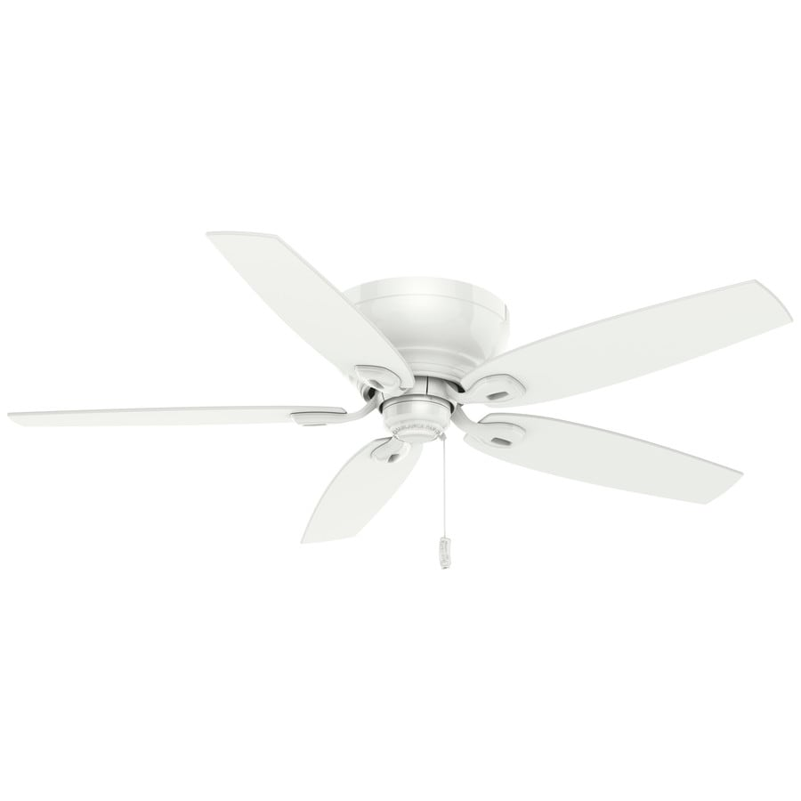 Casablanca Durant 54-in Snow White Flush Mount Indoor Ceiling Fan