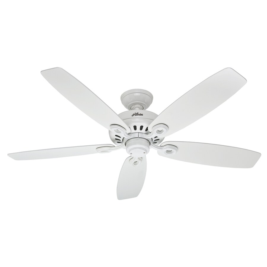 Hunter Markham 52 In Snow White Indoor Downrod Or Close Mount Ceiling Fan Energy Star