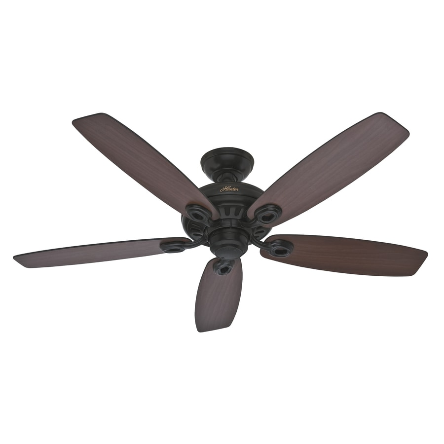 Hunter Markham 52-in Matte Black Downrod or Close Mount Indoor Ceiling Fan ENERGY STAR