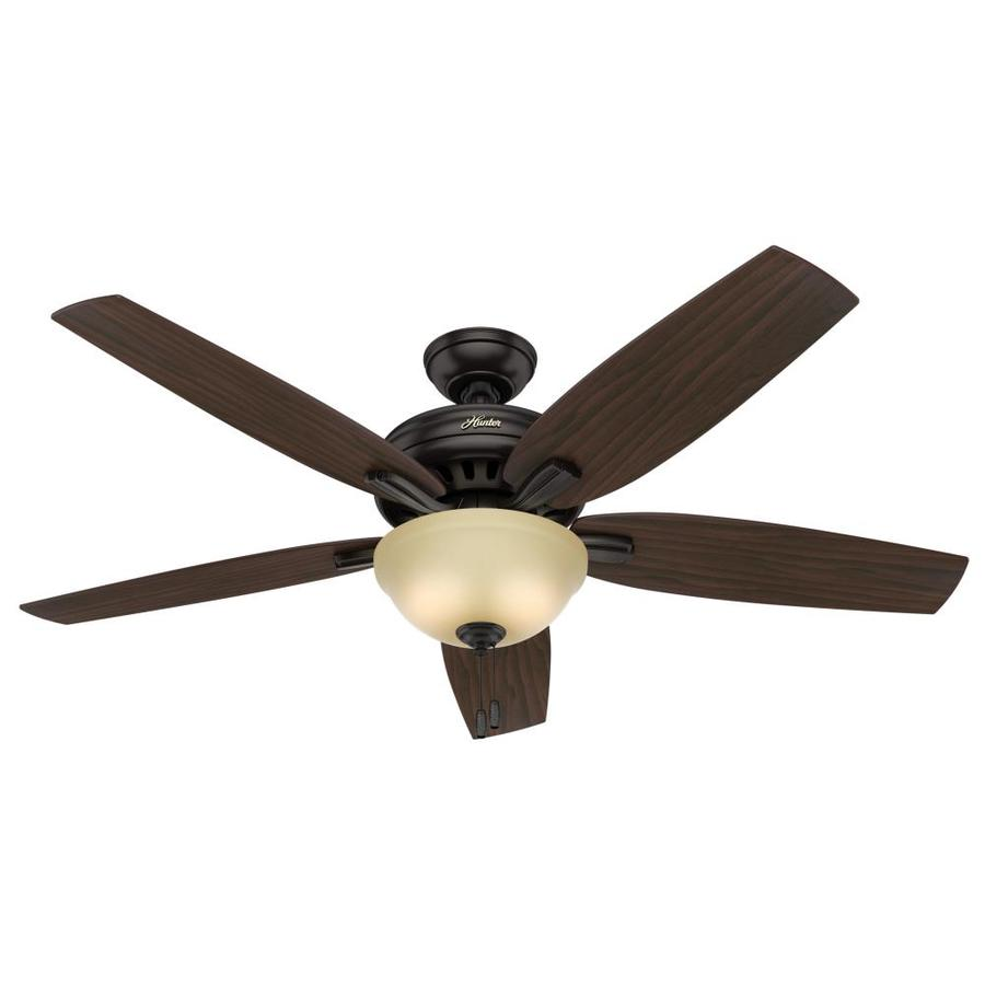 Hunter Newsome 56-in Premier Bronze Downrod or Close Mount Indoor Residential Ceiling Fan with Light Kit