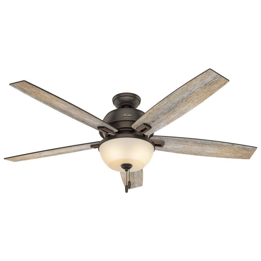 Hunter Donegan 60 In Onyx Bengal Bronze Indoor Ceiling Fan With Light Kit