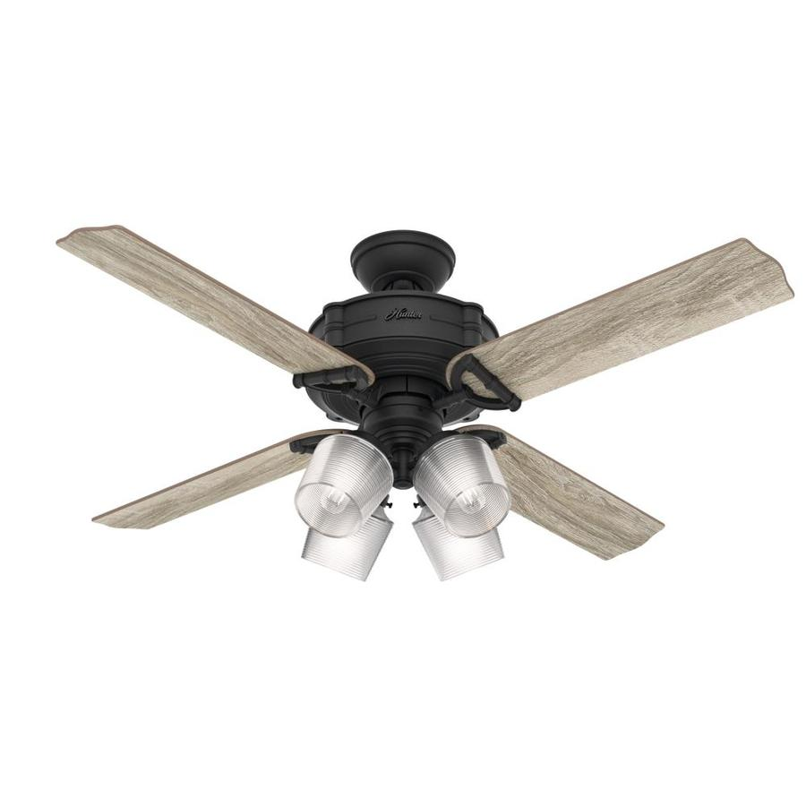 Shop hunter brunswick 52 in natural iron indoor ceiling fan with hunter brunswick 52 in natural iron indoor ceiling fan with light kit and remote aloadofball Gallery