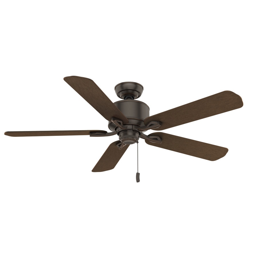 Casablanca 1-Pack Compass Point 54-in Onyx Bengal Downrod or close mount Indoor/Outdoor Ceiling Fan ENERGY STAR