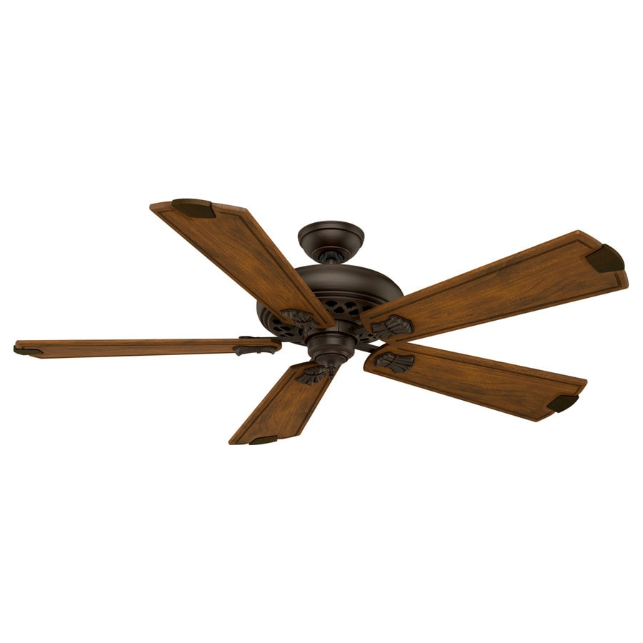 Casablanca Fellini 60-in Cocoa Indoor Downrod Or Close Mount Ceiling Fan and Remote ENERGY STAR