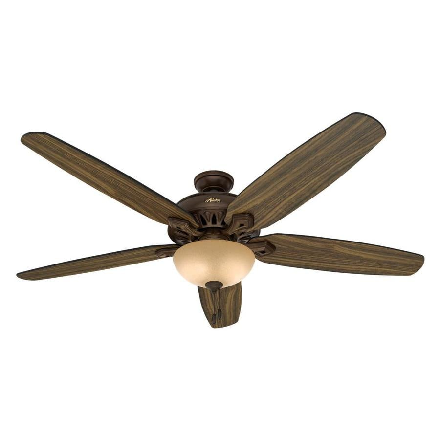 Hunter Castleton 70-in Northern Sienna Downrod or Close Mount Indoor Residential Ceiling Fan with Light Kit