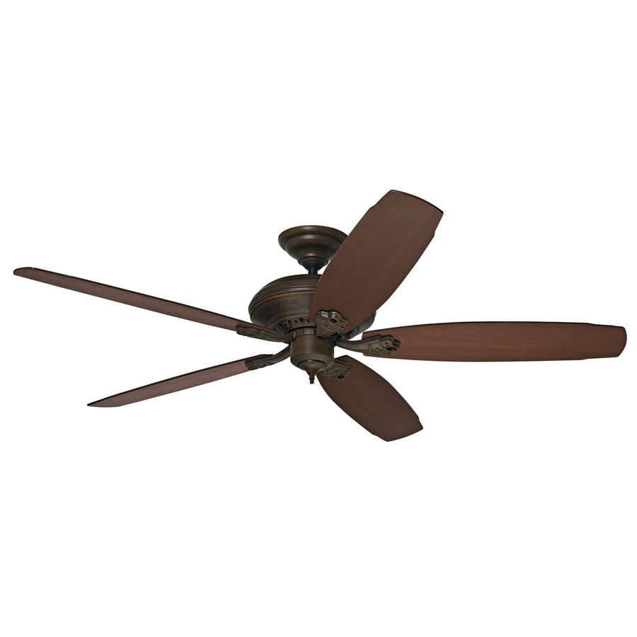 Prestige by Hunter Headley 64-in Cocoa Downrod Mount Indoor Ceiling Fan ENERGY STAR
