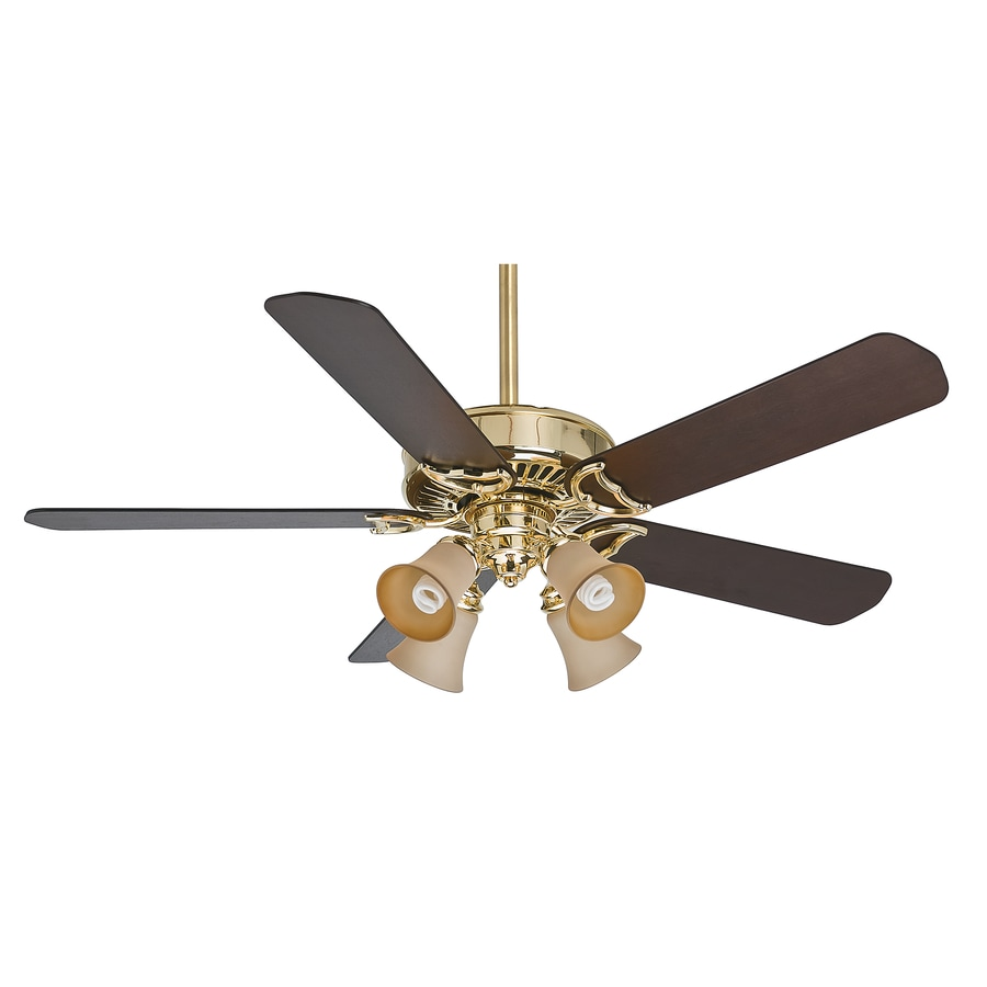 Ceiling Fans With Brightest Lights : Casablanca panama gallery in bright brass downrod