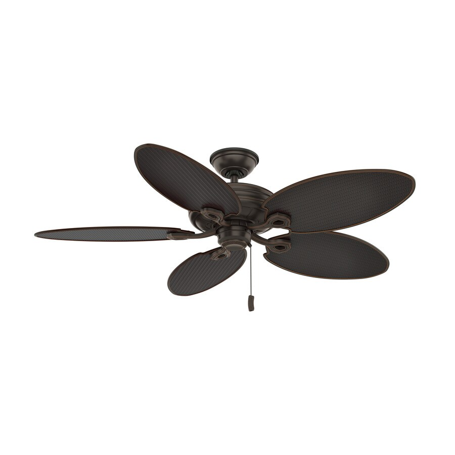 Casablanca Charthouse 54-in Onyx Bengal Indoor/Outdoor Downrod or Close Mount Ceiling Fan ENERGY STAR