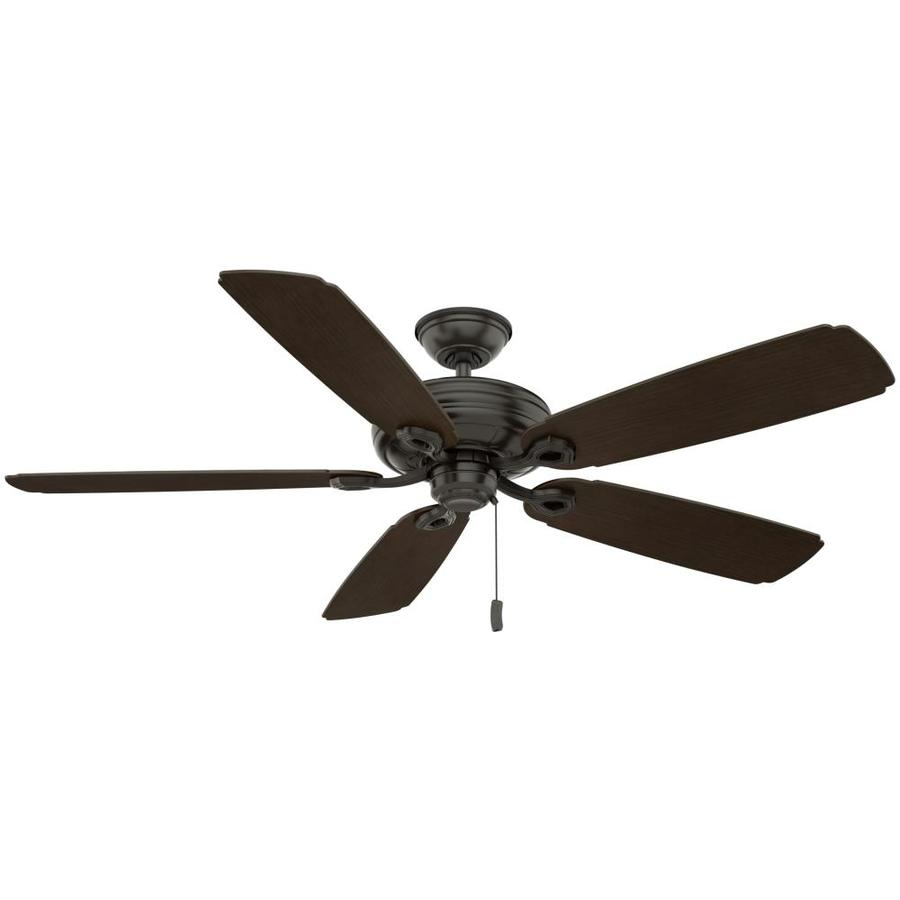 Casablanca Charthouse 54-in Noble Bronze Indoor/Outdoor Downrod or Close Mount Ceiling Fan ENERGY STAR