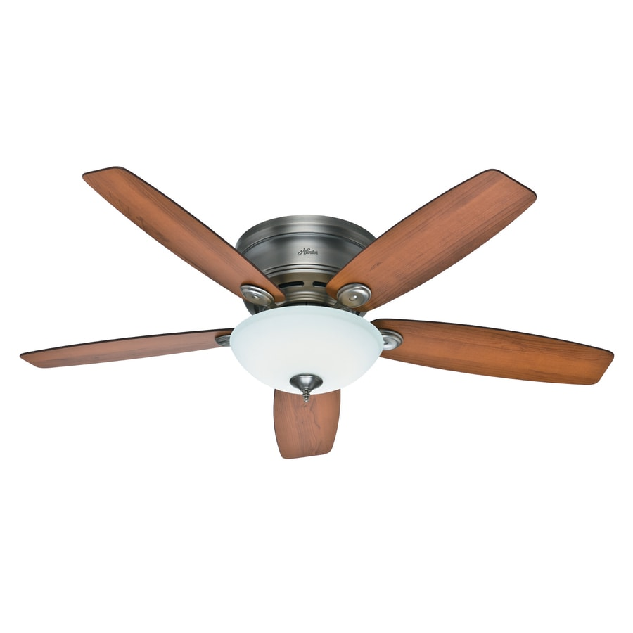 Hunter Low Profile 52 Led Ceiling Fan At Menards: Shop Hunter Low Profile IV Plus LED 52-in Antique Pewter