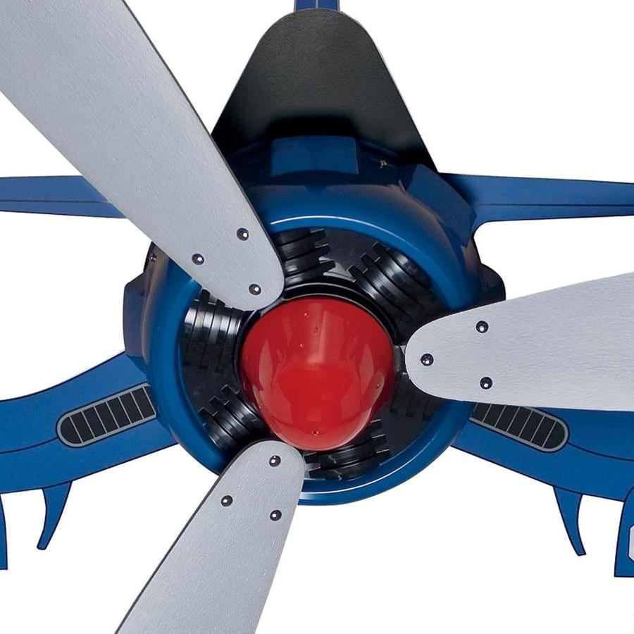 Hunter Fantasy Flyer Blue 48 In Indoor Flush Mount Ceiling Fan 3 Blade In The Ceiling Fans Department At Lowes Com
