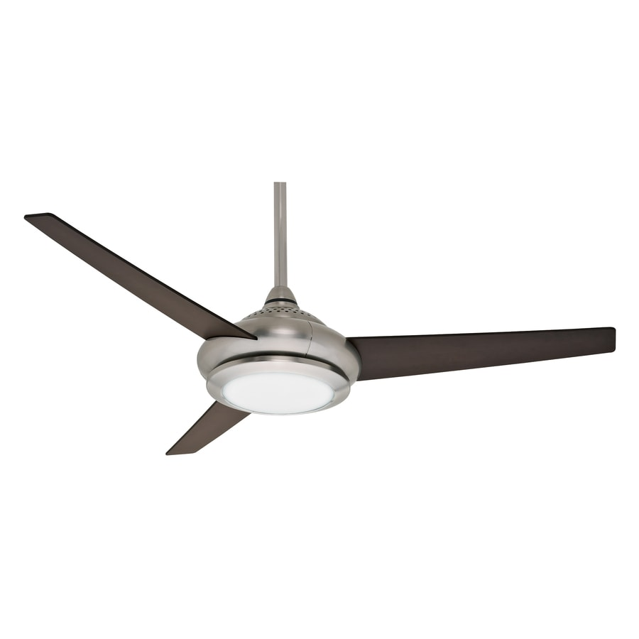Casablanca Tercera 52-in Brushed Nickel Downrod Mount Indoor Residential Ceiling Fan with Light Kit and Remote (3-Blade)