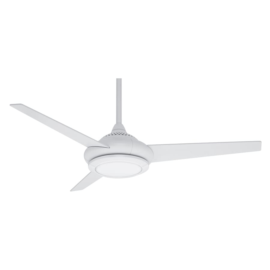 Casablanca Tercera 52-in Snow White Downrod Mount Indoor Residential Ceiling Fan with Light Kit and Remote (3-Blade)