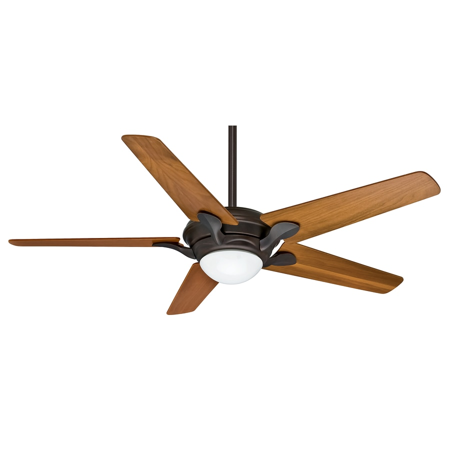 Casablanca Bel Air 56-in Brushed Cocoa Indoor Downrod Or Close Mount Ceiling Fan with Light Kit and Remote