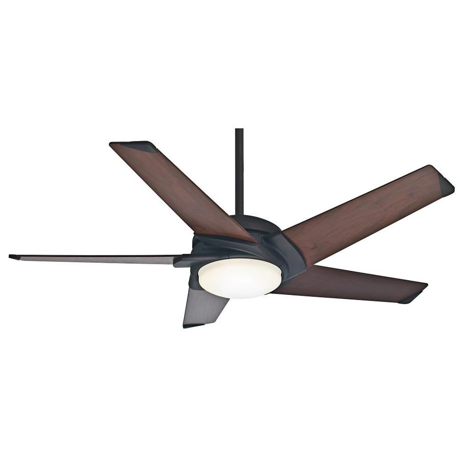 Casablanca Stealth DC 54-in Maiden Bronze Indoor Downrod Or Close Mount Ceiling Fan with Light Kit and Remote