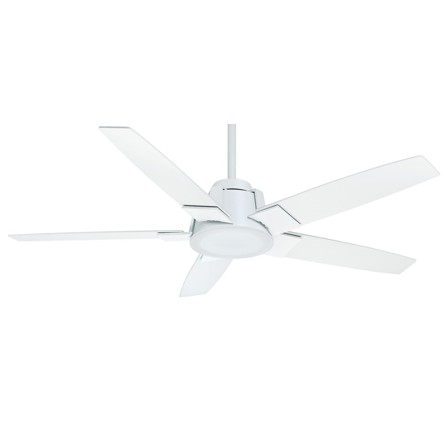 Casablanca Zudio LED 56-in Snow White Downrod or Close Mount Indoor Ceiling Fan with Integrated Light Kit and Remote ENERGY STAR