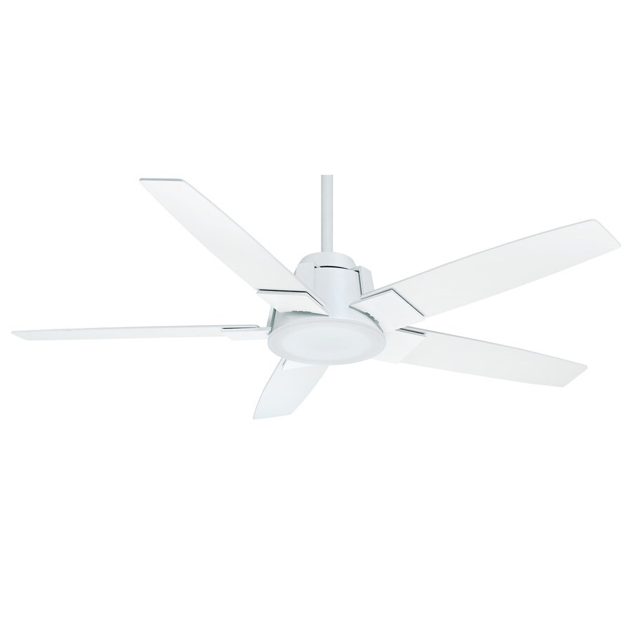 Casablanca Zudio Led 56-in Snow White Downrod or Close Mount Indoor Residential Ceiling Fan with LED Light Kit and Remote ENERGY STAR