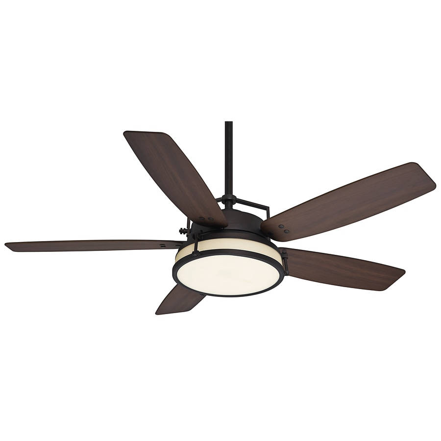 Casablanca Caneel Bay 56-in Maiden Bronze Indoor/Outdoor Downrod Mount Ceiling Fan with Light Kit and Remote