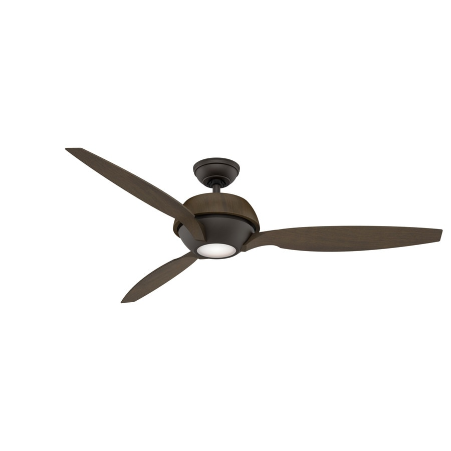 Casablanca Riello LED 60-in Maiden Bronze Integrated LED Indoor Downrod Or Close Mount Ceiling Fan with Light Kit and Remote (3-Blade) ENERGY STAR