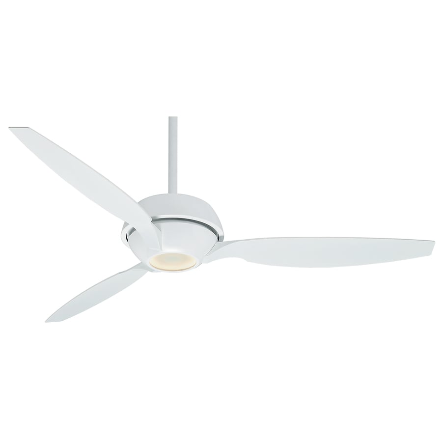 Casablanca Riello LED 60-in Snow White Downrod or Close Mount Indoor Ceiling Fan with Integrated Light Kit and Remote (3-Blade) ENERGY STAR