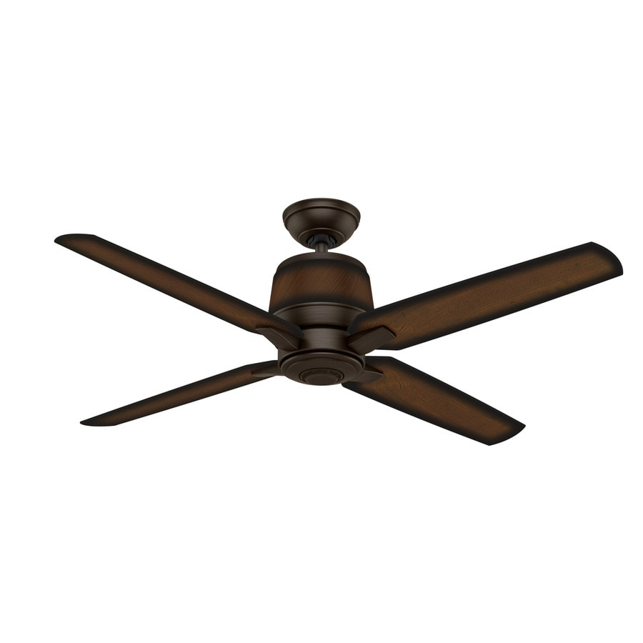 Casablanca Aris 54-in Brushed Cocoa Indoor/Outdoor Downrod Or Close Mount Ceiling Fan and Remote (4-Blade) ENERGY STAR