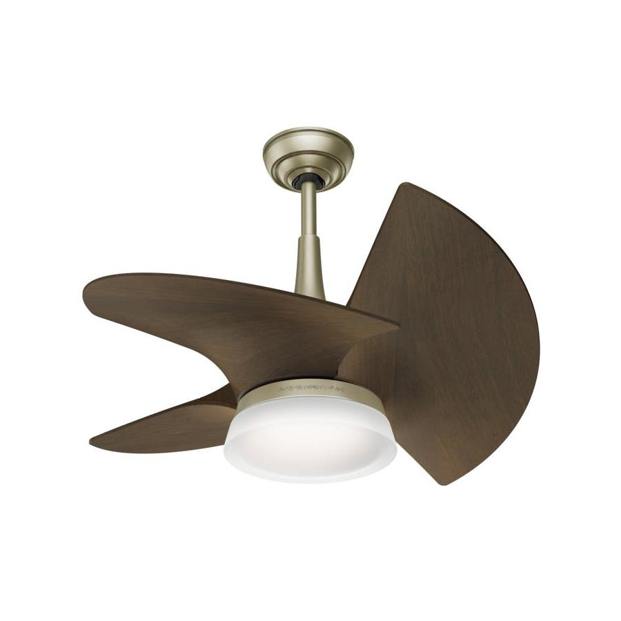 ... Outdoor Ceiling Fan with Integrated Light Kit and Remote (3-Blade) at