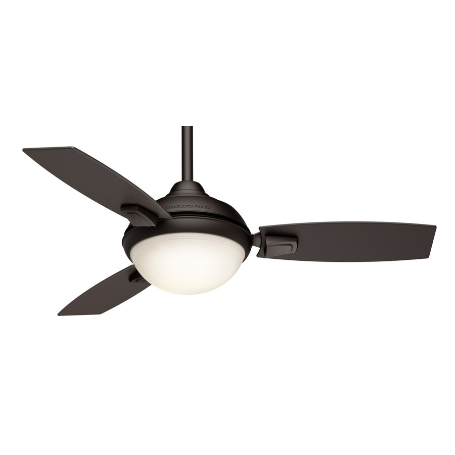 Casablanca Verse LED 44-in Maiden Bronze Integrated LED Indoor/Outdoor Downrod Or Close Mount Ceiling Fan with Light Kit and Remote (3-Blade)