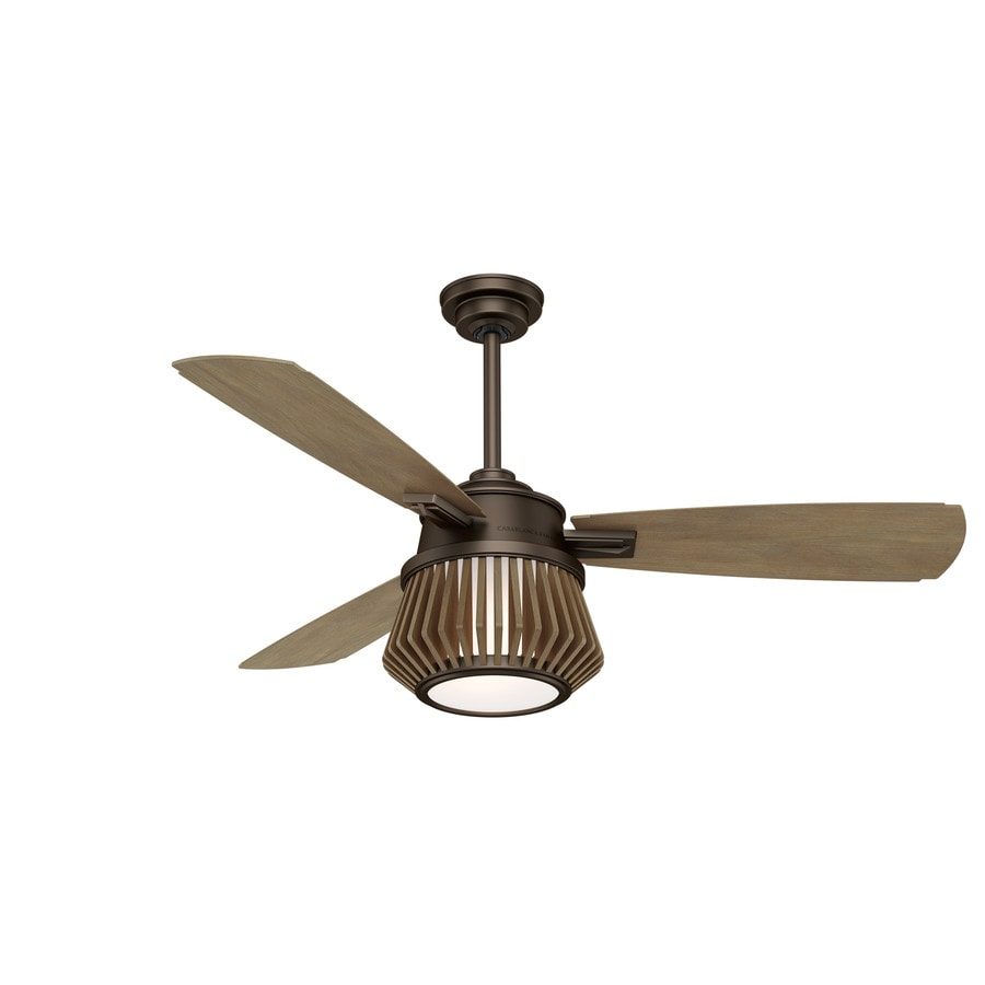Casablanca Glen Arbor LED 56-in Metallic Chocolate Indoor Downrod Or Close Mount Ceiling Fan with Light Kit and Remote (3-Blade) ENERGY STAR