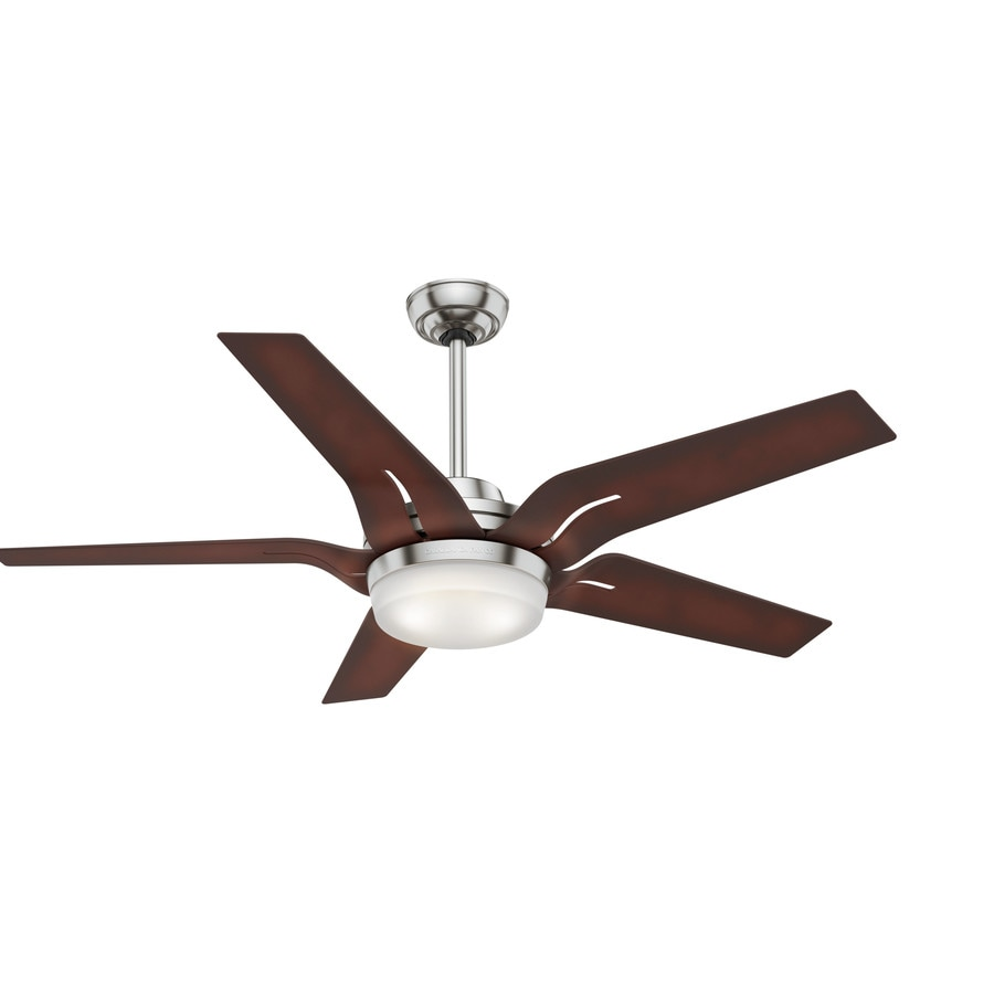 Casablanca Correne LED 56-in Brushed Nickel Downrod or Close Mount Indoor Ceiling Fan with Integrated Light Kit and Remote ENERGY STAR