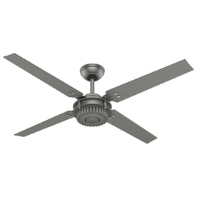 Shop chronicle gray ceiling fans at lowes hunter chronicle 54 in indooroutdoor downrod mount ceiling fan 4 blade aloadofball Gallery