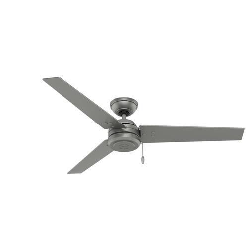 Matte Gray Indoor Outdoor Ceiling Fan