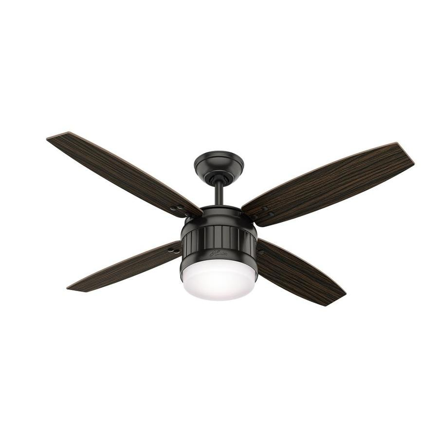 Hunter Outdoor Ceiling Fans With Lights: Shop Hunter Seahaven 52-in Noble Bronze Integrated Led