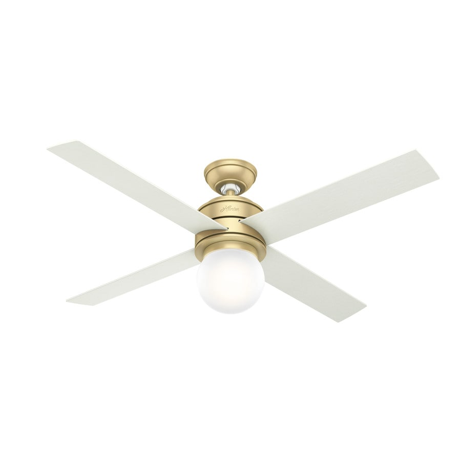 Ceiling Fan Light Kit Modern : Hunter hepburn in modern brass indoor downrod or